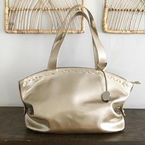 Vintage Furla Gold Patent Leather Handbag